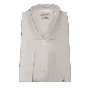 NWT Calvin Klein Steel+ Big Fit White Dress Shirt